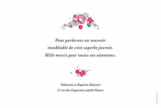 Carte de remerciement mariage Romance blanc