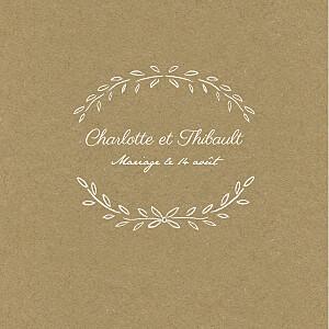 Faire-part de mariage nature poème (triptyque) kraft