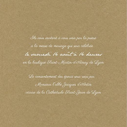 Faire-part de mariage Poème (triptyque) kraft - Page 3