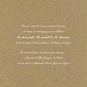 Faire-part de mariage Poème (triptyque) kraft page 3