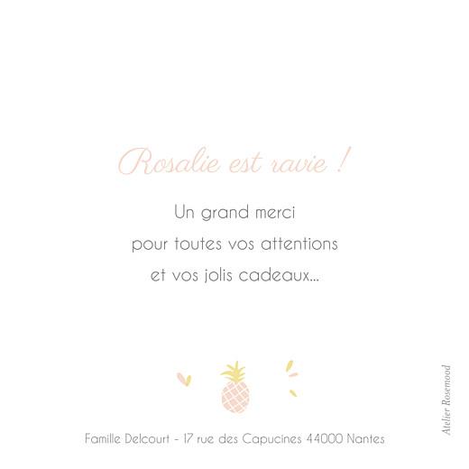 Carte de remerciement Petit ananas rose - Page 2