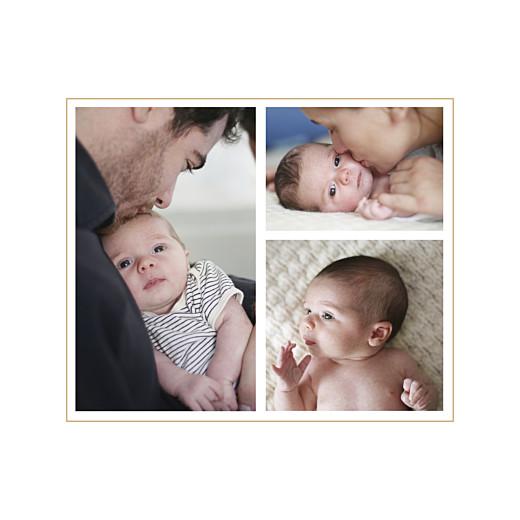 Faire-part de naissance Losanges 3 photos bleu