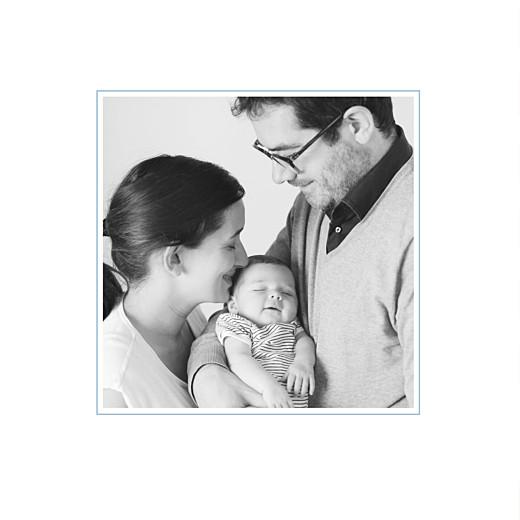 Faire-part de naissance Motif graphique 2 photos 4p garçon