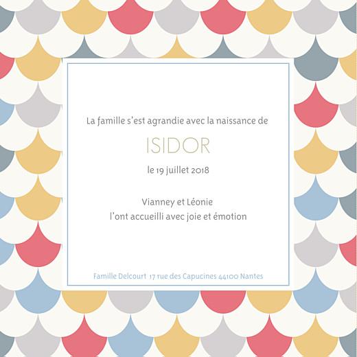 Faire-part de naissance Motif graphique 2 photos 4p garçon - Page 3