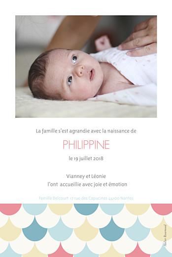 Faire-part de naissance Motif graphique 2 photos 4p fille - Page 2