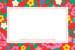 Carte de correspondance Pivoines rouge - Page 1