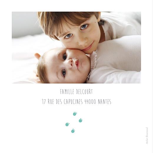 Faire-part de naissance Chat & compagnie 5 photos vert