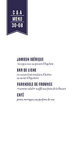 Menu de mariage L'annonce (4 pages) kraft & bleu-violet