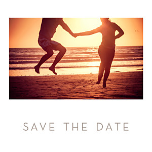Save the Date Simple 1 photo carré blanc