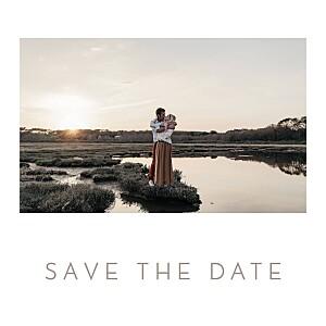 Save the date le collectif  simple 1 photo carré blanc