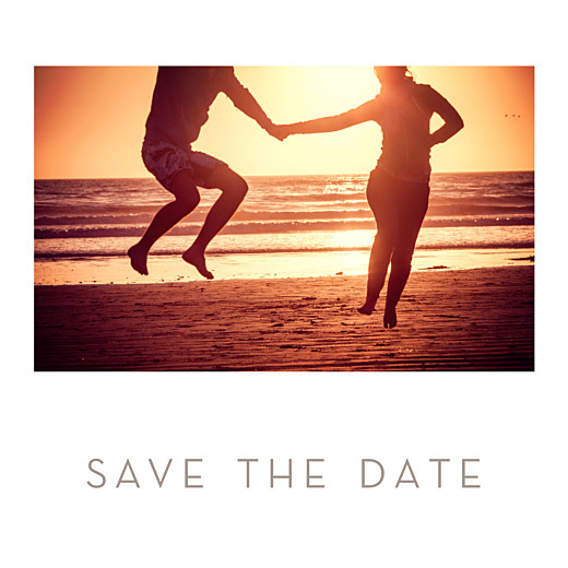 Save the Date Simple 1 photo carré blanc - Page 1