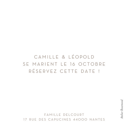 Save the Date Simple 1 photo carré blanc - Page 2
