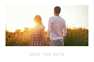 Save the Date Simple 1 photo paysage blanc