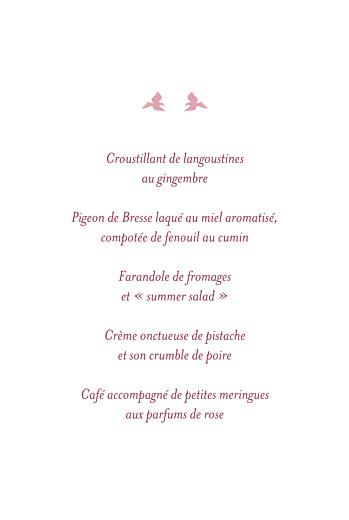 Menu de baptême Croix & colombes rose - Page 3