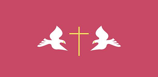 Marque-place Baptême Croix & colombes rose - Page 4