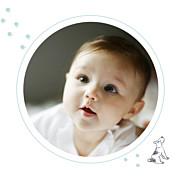 Faire-part de naissance Chien & compagnie (triptyque) bleu page 5