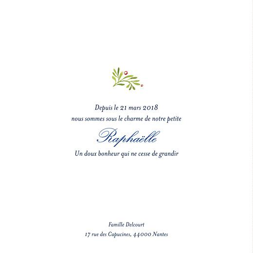 Faire-part de naissance Murmure de forêt 4p vert - Page 3