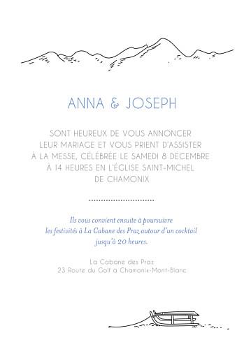 Faire-part de mariage Promesse d'hiver portrait blanc - Page 3