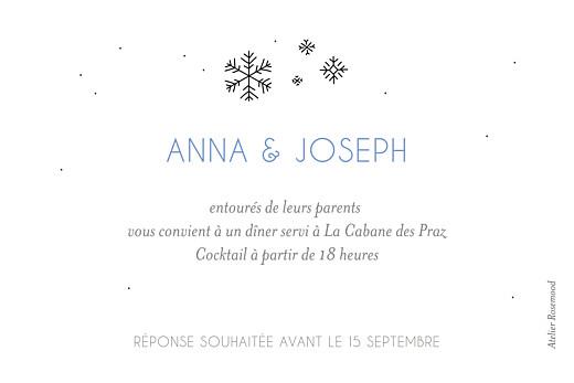 Carton d'invitation mariage Promesse d'hiver blanc