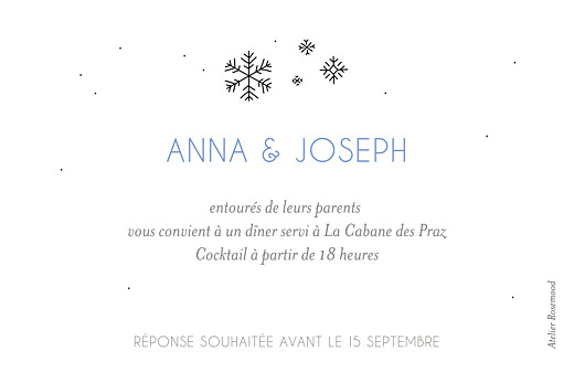 Carton d'invitation mariage Promesse d'hiver blanc - Page 2