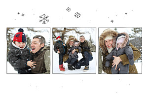 Carte de remerciement mariage Promesse d'hiver blanc