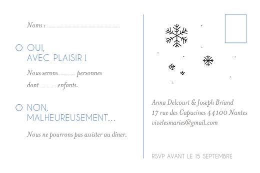 Carton réponse mariage Promesse d'hiver blanc