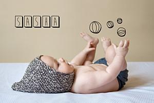Faire-part de naissance Mon petit jongleur noir