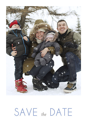 Save the Date Promesse d'hiver blanc