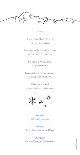Menu de mariage Promesse d'hiver blanc - Page 2