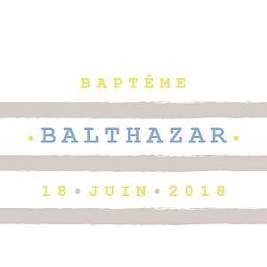 Etiquette de baptême marron marinière taupe