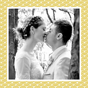 Carte de remerciement mariage Seigaiha jaune page 5