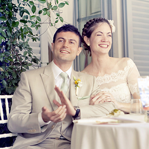 Carte de remerciement mariage Seigaiha jaune