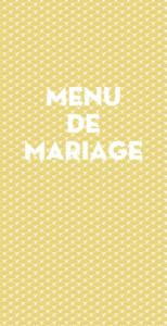 Menu de mariage Seigaiha jaune