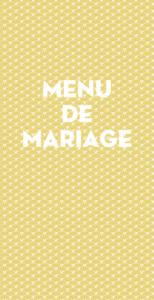 Menu de mariage Seigaiha (4pages) jaune