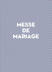 Livret de messe mariage Seigaiha bleu