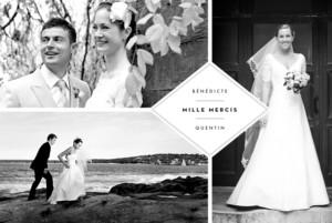 carte de remerciement mariage cusson 4 photos paysage blanc - Remerciement Mariage