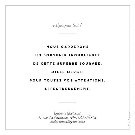 Carte de remerciement mariage Écusson 3 photos carré blanc - Page 2