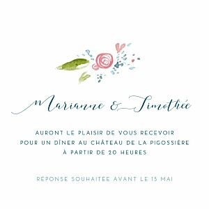 Carte d'invitation mariage image