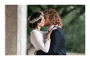 Carte de remerciement mariage Journée de printemps blanc