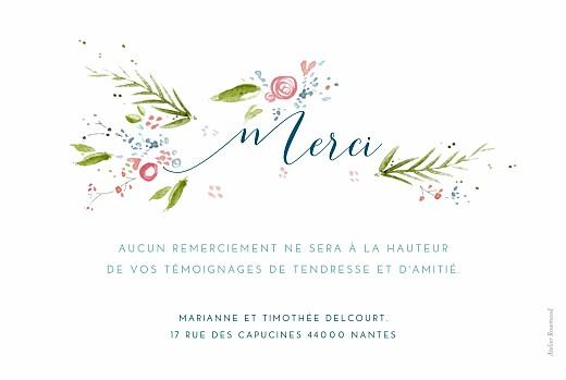 Carte de remerciement mariage Journée de printemps blanc - Page 2