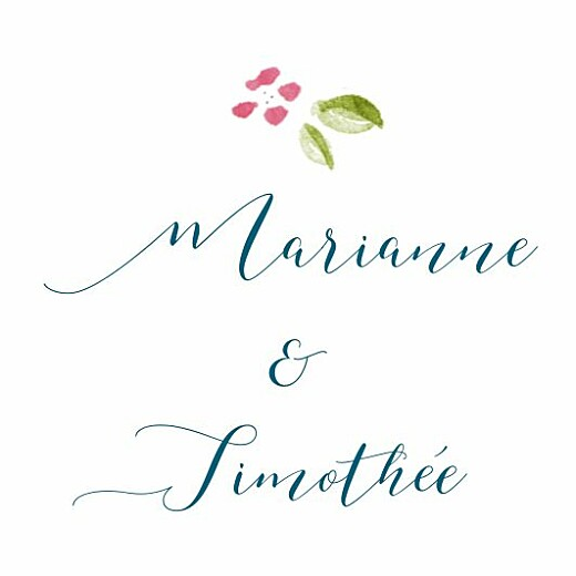 Etiquette de mariage Journée de printemps blanc