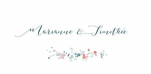 Marque-place mariage Journée de printemps (4 pages) blanc
