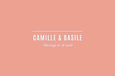 Carton d'invitation mariage Trait contemporain corail finition