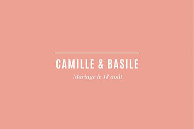 Carton d'invitation mariage Trait contemporain corail finition