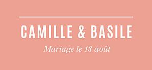 Etiquette de mariage Trait contemporain corail