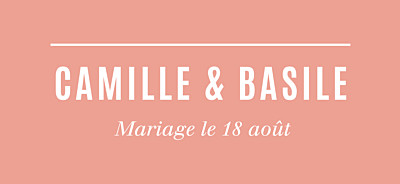 Etiquette de mariage Trait contemporain corail finition