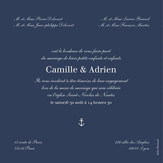 Faire-part de mariage Marin rv bleu - Page 2