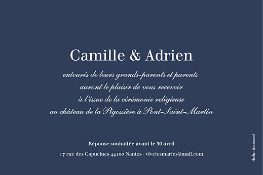 Carton d'invitation mariage Marin bleu - Page 2