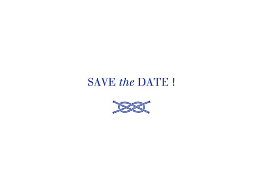 Save the Date Marin blanc