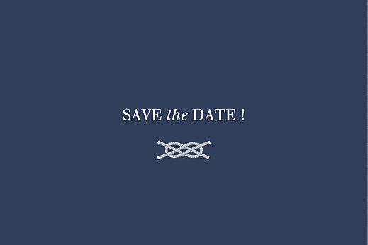 Save the Date Marin bleu